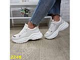 Кроссовки бежевые на высокой платформе 40 р. (2248), фото 7