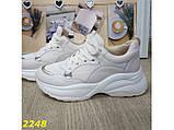 Кроссовки бежевые на высокой платформе 40 р. (2248), фото 4