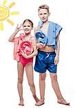 Детская полнолицевая панорамная маска для плавания EASYBREATH KIDS (XS) M2068G, фото 2