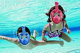 Детская полнолицевая панорамная маска для плавания EASYBREATH KIDS (XS) M2068G, фото 3