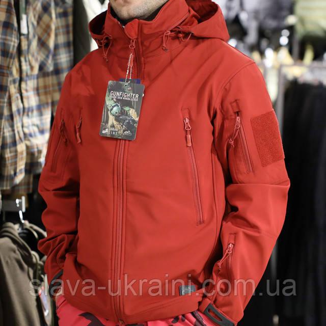 куртка soft shell red