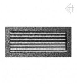 Вентиляционная решетка для камина KRATKI 17х37 см черно-серебряная с жалюзи
