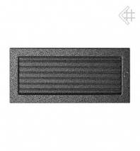 Вентиляционная решетка для камина KRATKI 17х37 см черно-серебряная с жалюзи, фото 2