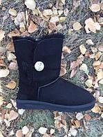 Женские UGG Australia черные высокие замшевые VO-04