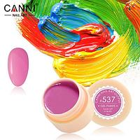 Гель-краска Canni №537 яркая розовая, 5 мл