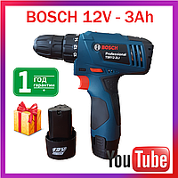 Шуруповерт Bosch TSR12-2LI (12V 3Ah Li-Ion). Профессиональный шуруповёрт Бош