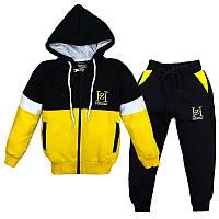 Костюм спортивный для мальчика 92-122 (2-7лет) 101 Желтый с черным + капюшон