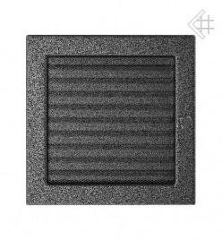 Вентиляционная решетка для камина KRATKI 22х22 см черно-серебряная с жалюзи