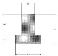 Шнур силіконовий Т-ОБРАЗНИЙ 4,7х5,5 mm БІЛИЙ