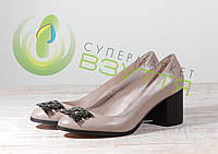 Шкіряні жіночі туфлі Marko Rossi 651 беж 37,38,39 розміри, фото 1