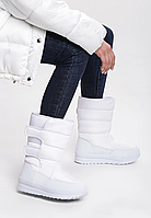 Сапоги дутики женские белые зимние код С903 41