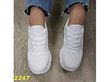 Кроссовки белые на высокой платформе 36 р. (2247), фото 5