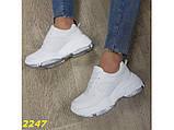 Кроссовки белые на высокой платформе 36 р. (2247), фото 2
