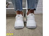 Кроссовки белые на высокой платформе 36 р. (2247), фото 4