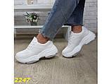 Кроссовки белые на высокой платформе 36 р. (2247), фото 7
