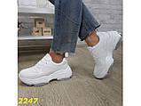 Кроссовки белые на высокой платформе 36 р. (2247), фото 8