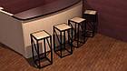 Барные стулья для кафе из дерева и металла, фото 3