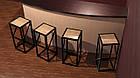 Барные стулья для кафе из дерева и металла, фото 5