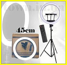 Кольцевая led лампа c пультом на штативе  K18 (45см).Кольцевой свет для видео,фото.Светодиодная лед лампа