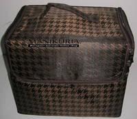 Чемодан с органайзером, ткань, коричневый