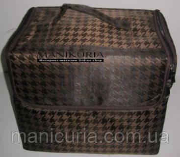 Чемодан с органайзером, ткань, коричневый - Интернет-магазин «Маникюрия» в Николаеве