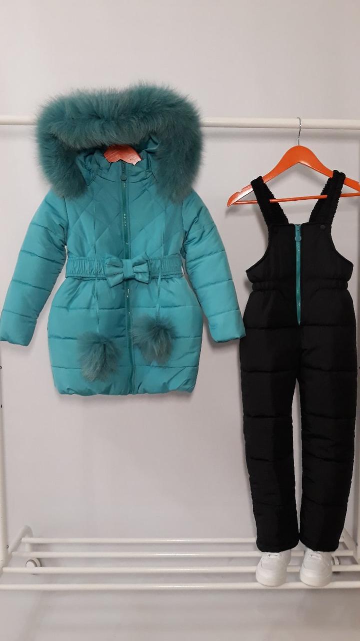 Зимове пальто на дівчинку розміри 86 - 152