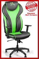 Компьютерное игровое геймерское детское кресло Barsky Sportdrive Green Arm_pad Tilt PA_designe BSD-01