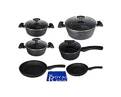 Набор посуды Royal Swiss 11 PSC черный