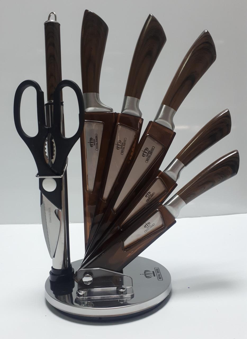 Набор ножей ROYAL SWISS RS 8812 Dark braun из Германии