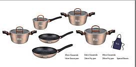 Набор посуды Royal Swiss 10 PSC + фартук бежевый