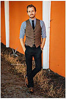 Чоловічий твідовий жилет в англійському стилі стандарт і великий батал розмір є! Розмір 42-74+ батал