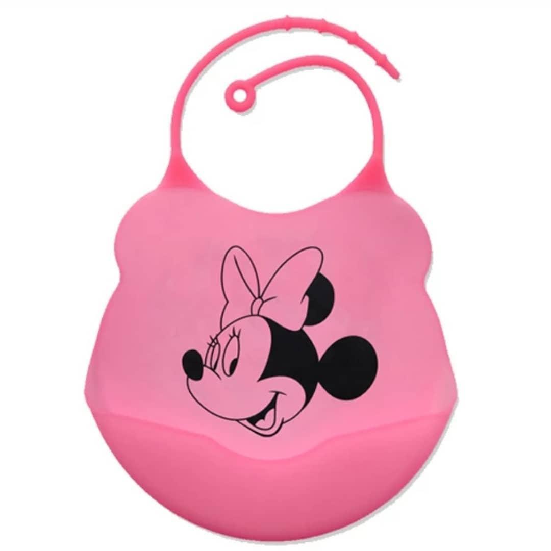 Слюнявчик силиконовый 0750 c кармашком Розовый