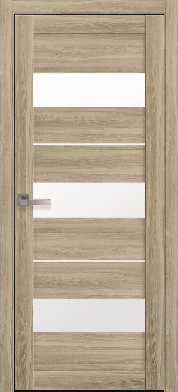 Двери межкомнатные Новый Стиль Лилу Экошпон стекло сатин 2000х700 Сандал