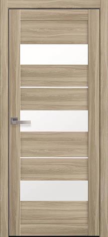Двери межкомнатные Новый Стиль Лилу Экошпон стекло сатин 2000х700 Сандал, фото 2