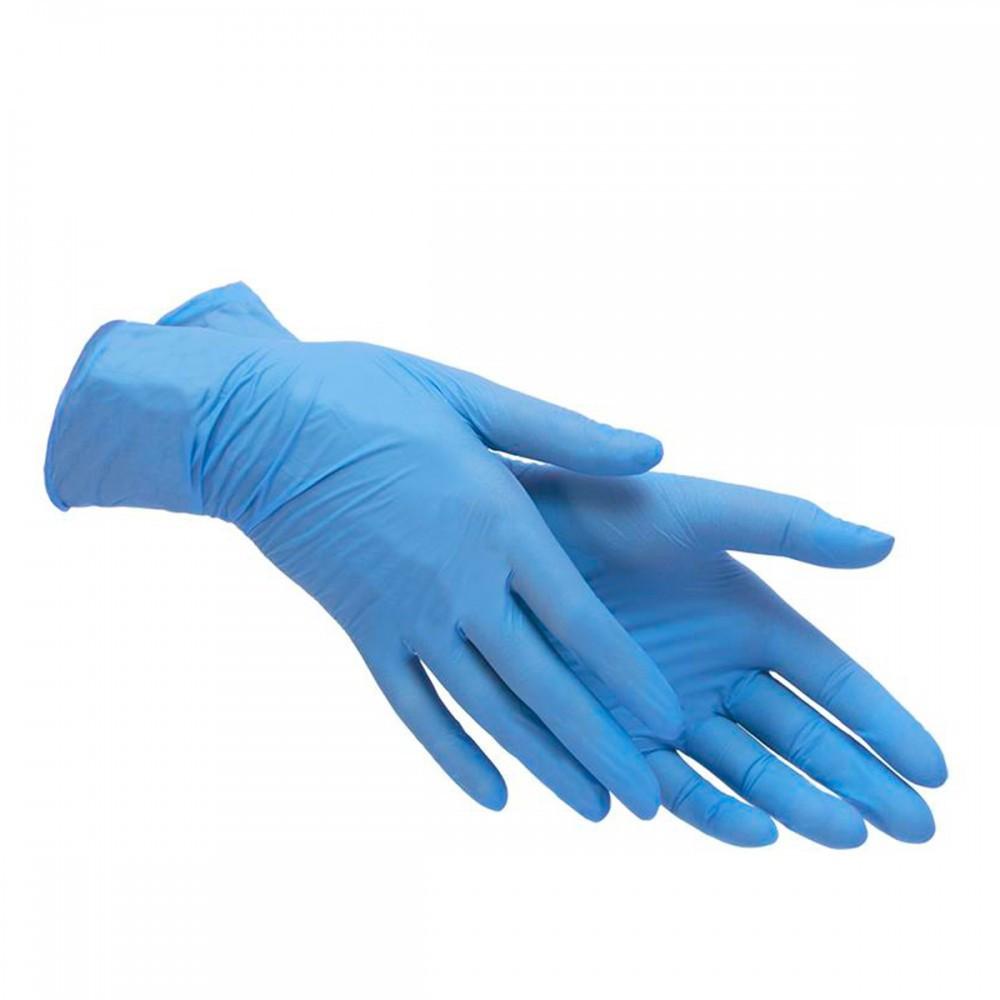 Перчатки нитриловые голубые 100шт размер XL