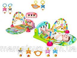 Детский Развивающий Коврик пианино HE0603-HE0604 для младенца музыка, свет, игрушки 71х47 см 2 Вида