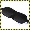 Маска для сна с широкой резинкой Silenta 3D Black