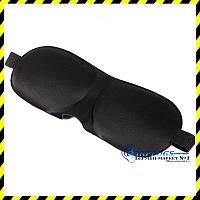 Маска для сна с широкой резинкой Silenta 3D Black, фото 1