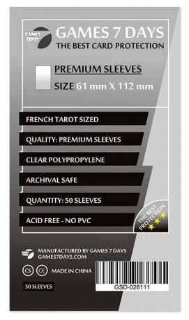 Протекторы для карт Games 7 Days 61х112мм Premium Quality