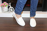 Слипоны белые женские с вышивкой Т262, фото 10