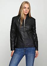 Весняно-осіння жіноча куртка приталеного крою Чорний