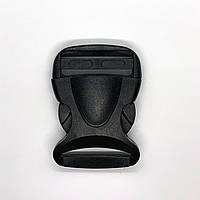 Замок фастекс для сумок и рюкзаков 3,8 (4) см черный пластик панцирный панцирь