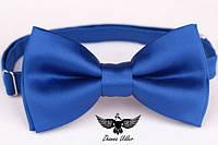 Бабочка синяя из хлопкового атласа, фото 1