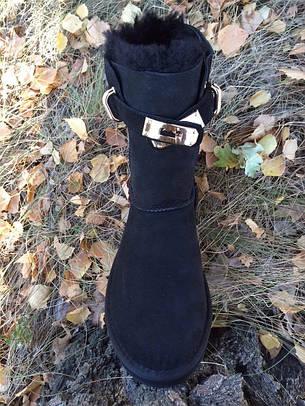 bd45906064b0 Купить Женские UGG Australia Hermes черные высокие замшевые VO-10 в ...