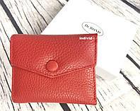 Женский кожаный кошелек Bond. Красный кошелек кожа. Женский бумажник в коробке. Портмоне. ДК3, фото 1