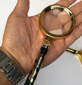 Лупа Magnifier x5 лінза 90 мм