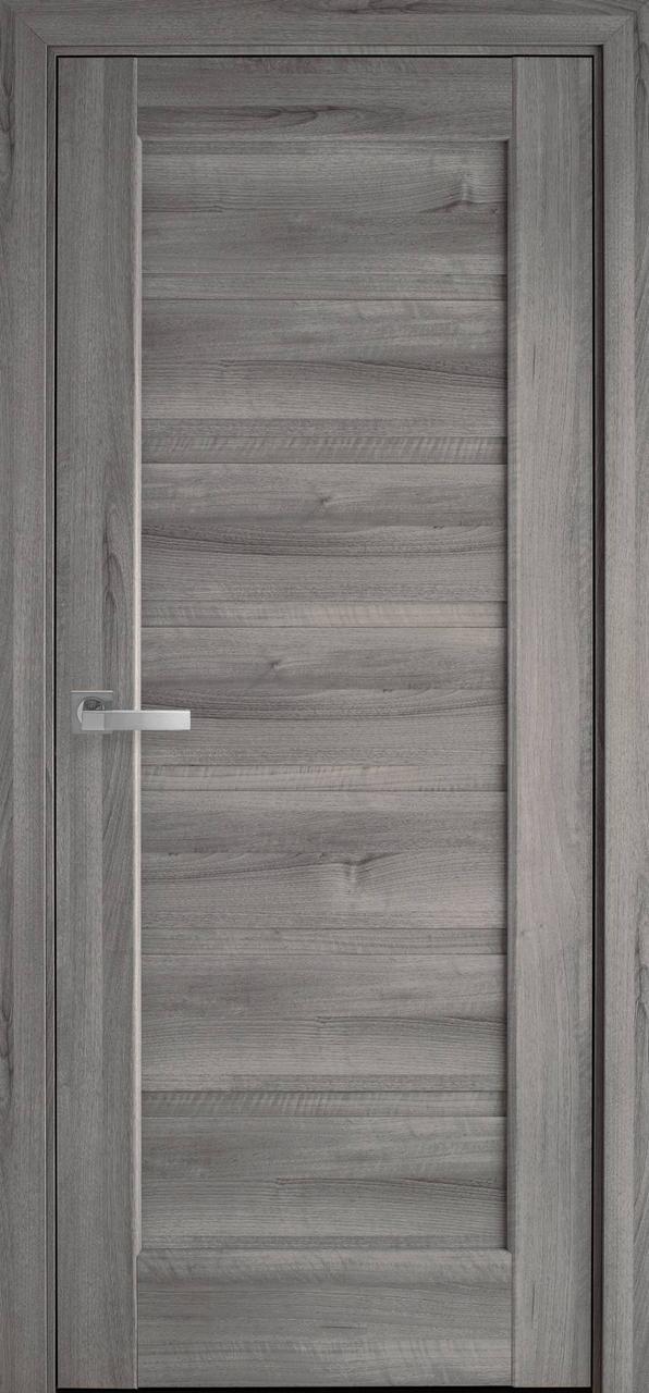 Двери межкомнатные Новый Стиль Линнея стекло черное ПВХ 2000х700 Бук пепельный