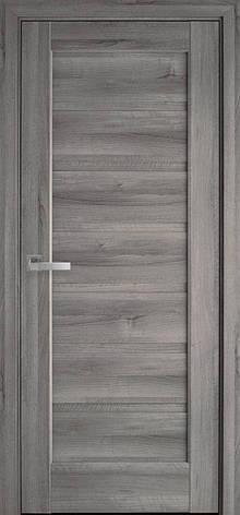 Двери межкомнатные Новый Стиль Линнея стекло черное ПВХ 2000х700 Бук пепельный, фото 2