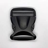 Замок фастекс для сумок и рюкзаков 5 см черный пластик панцирный панцирь