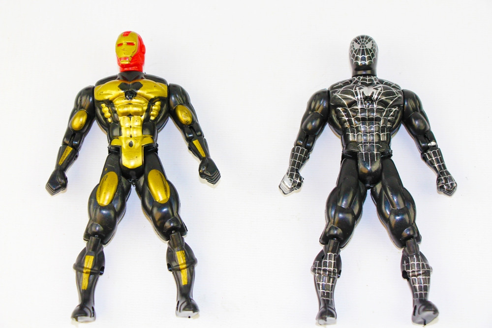 Герои - спайдер,бетмен,супермен в пакете
